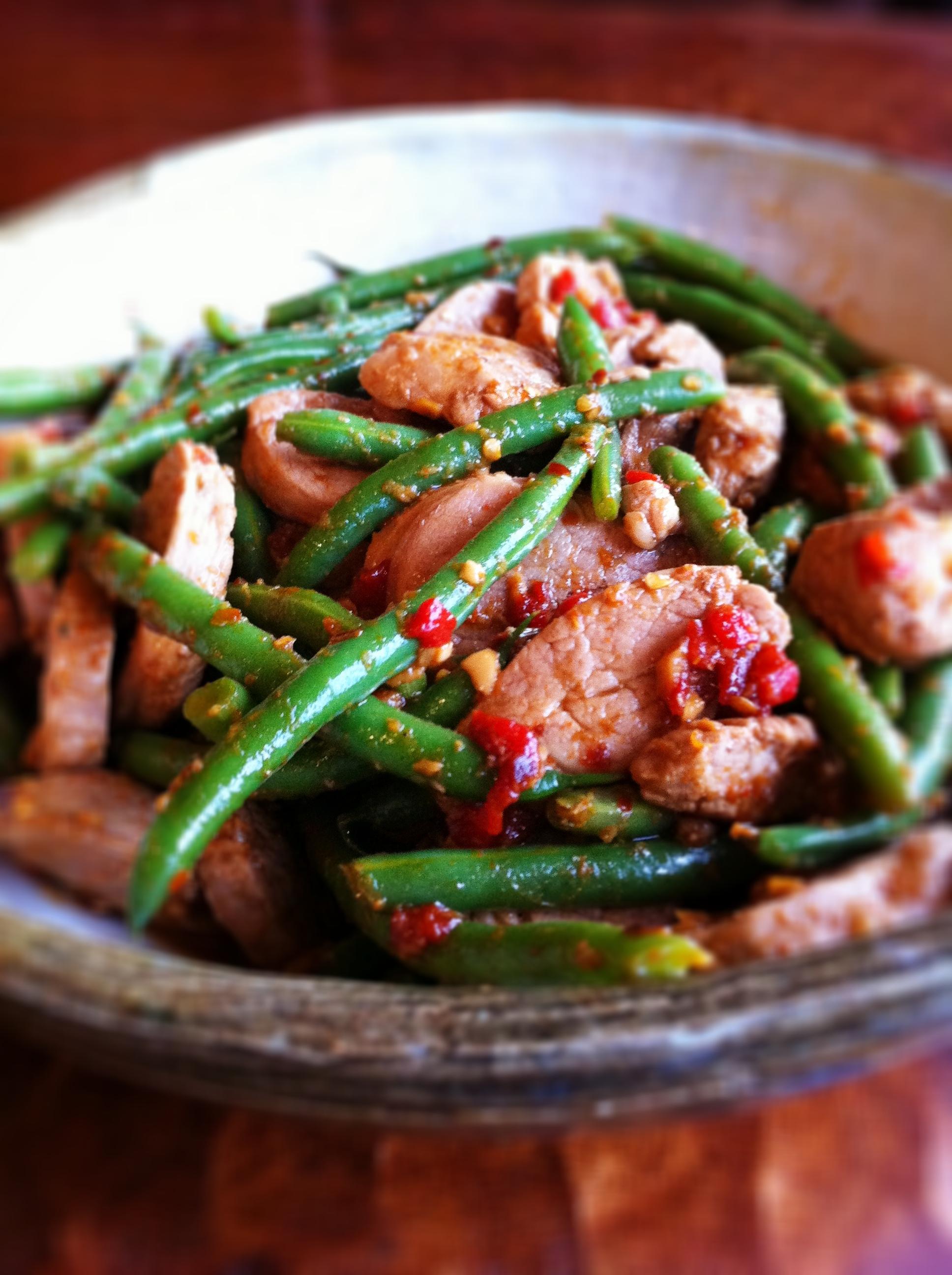 Thai Stir-Fry with Pork and Green Beans - BigOven