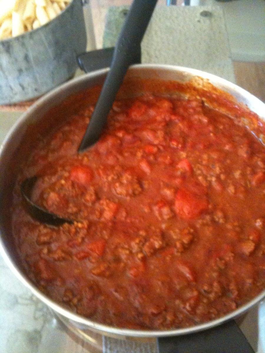 Tomato sauce with ground beef bigoven for What can you cook with ground beef