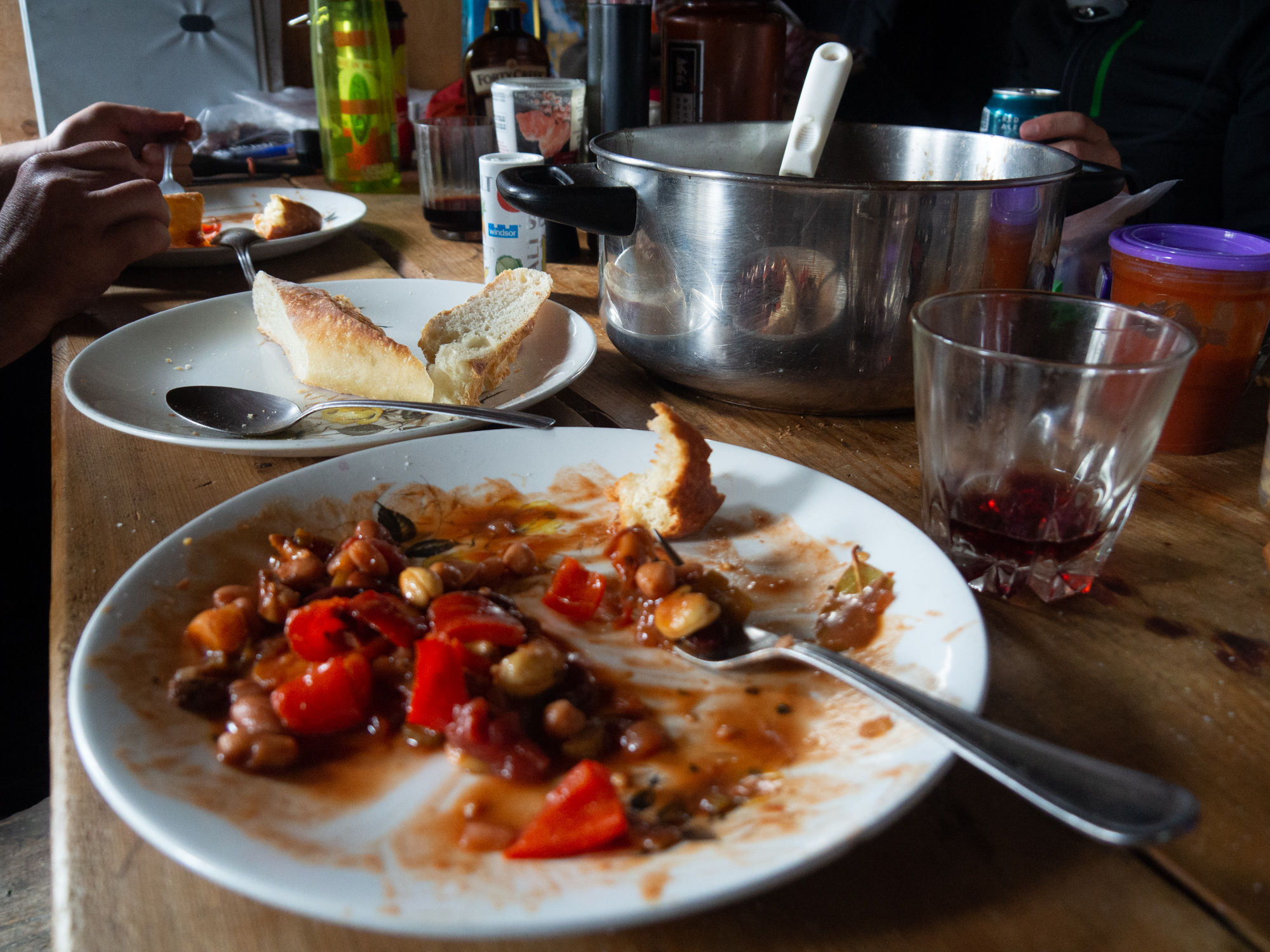 Vegetarian Cashew Chili for Camping