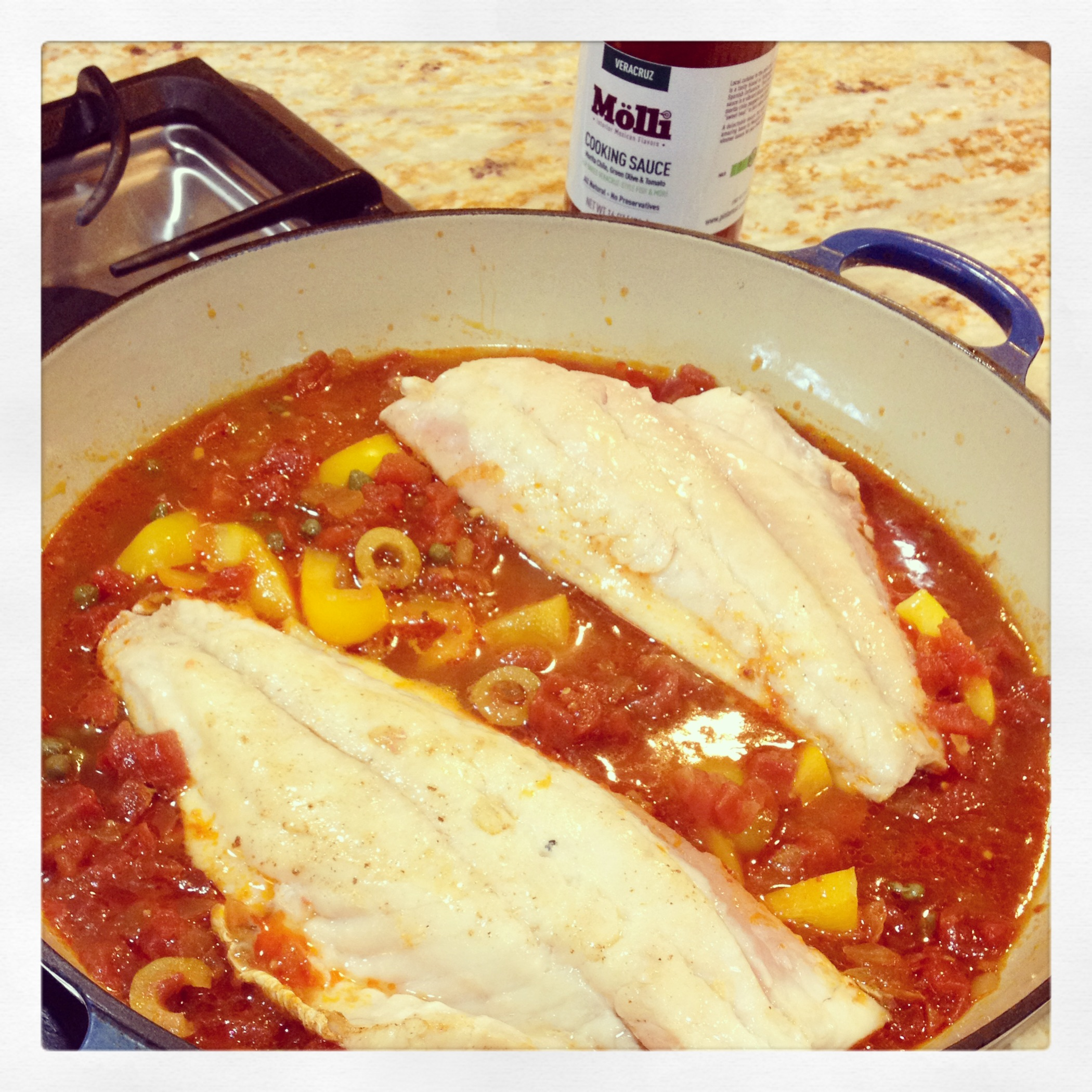 Veracruz style fish pescado a la veracruzana molli for Fish veracruz recipe