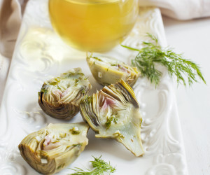 Baby Artichokes with Herb & Lemon Garlic Vinaigrette