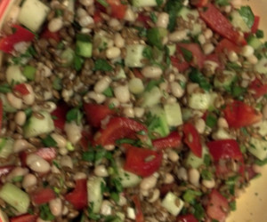Back On Track Wheat Berry and Bean Salad - BigOven