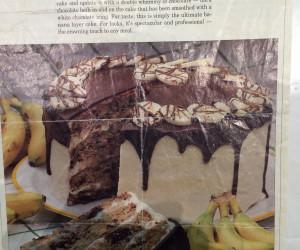 Banana Cake with White Chocolate Frosting and Chocolate Ganache