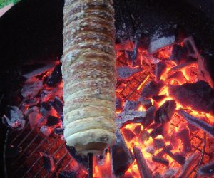Barbecued Chimney Cake