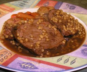Beef Barley Roast In Pressure Cooker