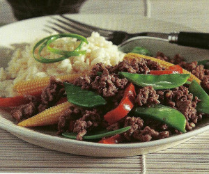 Beef with Snow Peas & Baby Corn - BigOven
