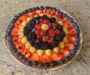 Berry Easy Cheesecake Pie