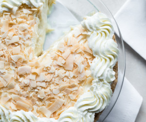 Boozy Coconut Cream Pie
