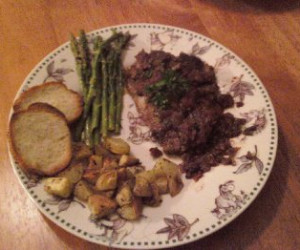 Braised Lamb Shoulder Chops with Tomatoes, Rosemary, and Olives