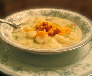 Broccoli and Ham Potato Soup