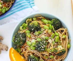 Broccoli & Orange Miso Pasta