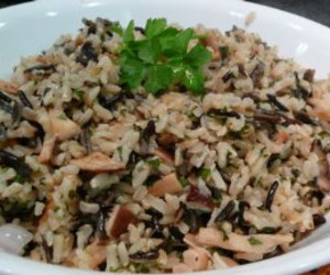 Brown and Wild Rice Pilaf with Porcini and Parsley