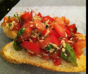 bruchetta with balsamic vinegar