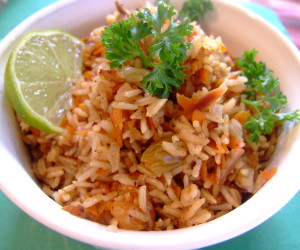 Carrot Rice (Vegan)