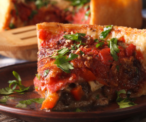 Chicago-Style Deep Dish Pizzas