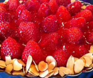 Dessert: Strawberry Almond Cream Tart