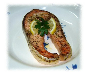 Dilled Salmon Steaks for Two