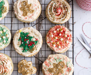 Slice 'n' Bake Vanilla  Bean Sugar Cookies with Whipped Buttercream