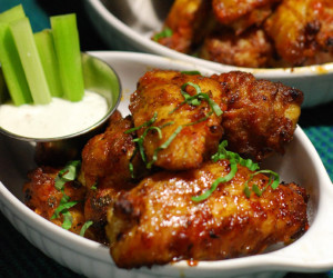 Fire Roasted Sriracha Chicken Wings