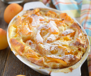 Fresh Apricot Clafouti