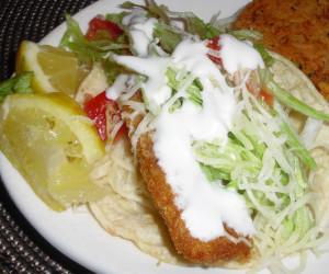 Fried fish tacos bigoven for Fried fish taco recipe