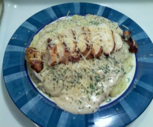 Garlic Mushroom Chicken Alfredo Ala David