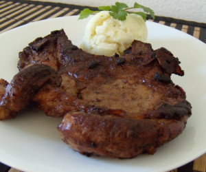 Garlicky Fried Pork chops