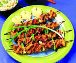 Ginger Chicken Kebabs