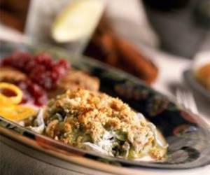 Green Bean and Asparagus Casserole With Cucumber Artichoke Sauce