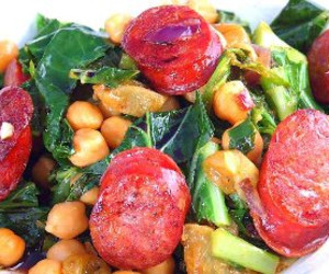 Greens and Beans With Sausage