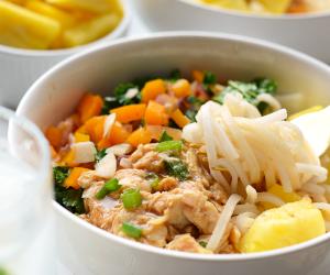 Hawaiian Chicken Noodle Bowls