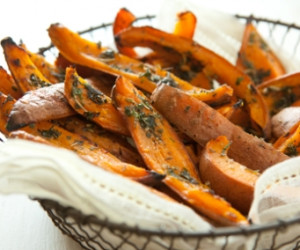 Herb-Roasted Sweet Potato Skins