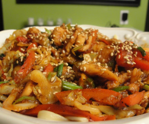 Korean-style Chicken Noodle Bowl