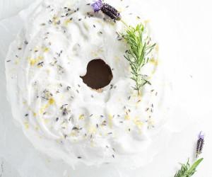 Lemon angel food cake lavender lemon angel food cake forumfinder Images