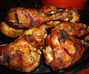 Lemon and Black Pepper Marinated Grilled Chicken Legs