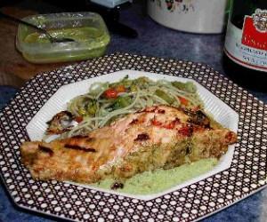 Lemon And Pesto Salmon