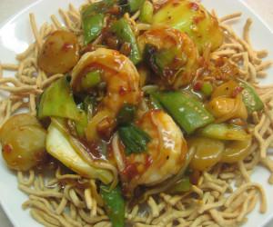 Lo Mein Noodles with Shrimp