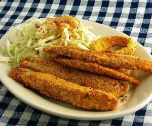 Low carb breaded fish bigoven for Carbs in fried fish