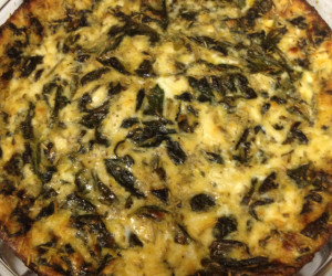 Low-Fat Spinach Feta Quiche