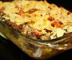 Mac & Cheese Taco Casserole
