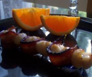 Maple-Glazed Scallops