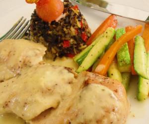 Mediterranean Chicken with Lemon  Cream Sauce