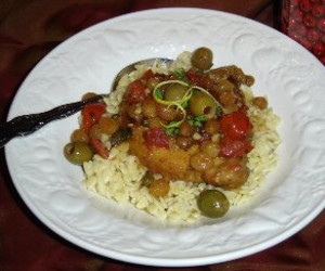 Mediterranean Chops with Parmesan Orzo