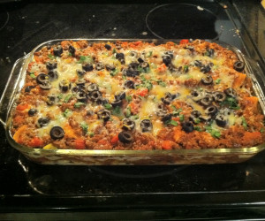 Mexican Lasagna with Black Beans and Corn