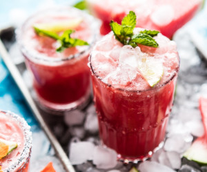 Minty Watermelon Cucumber Margarita