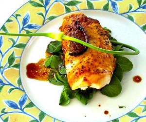 Muffi's Chicken Breasts stuffed with Figs and Goat Cheese