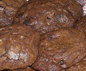One Bowl Chocolate Brownie Cookies