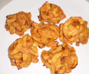 how to make onion bhaji