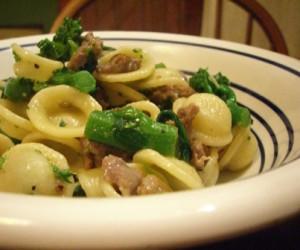 Orecchiette pasta with Sausage and Broccoli Rabe