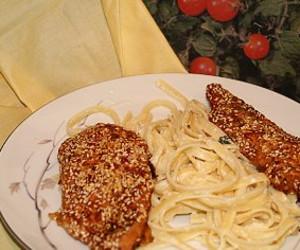 Oven-Fried Sesame Chicken